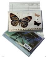White Butterfly Debit Card Holder with Debit Register & Photo Holder - $5.87