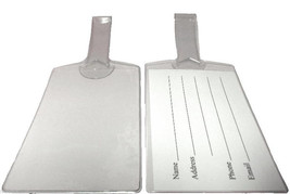 Large Clear Vinyl Luggage Tags Self Looping - Set of 100 - $97.02