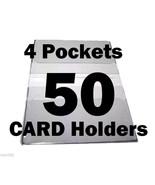 Debit Card Holders Clear Vinyl Cover 4 Pockets - Set of 50 - $45.03