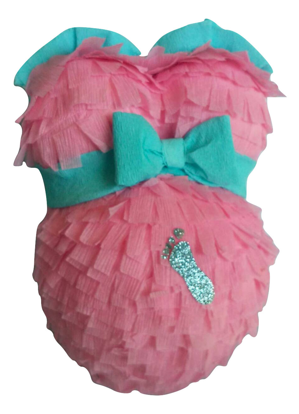 Cute Pregnant Belly Pinata For Baby Shower, Gender Reveal Shower