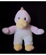 Vintage Duck Terry Cloth QUACK Plush Stuffed Animal Pastel - $12.69
