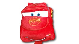 Cute McQueen Cars Kawaii Soft Furry Plush HandBag Backpack Bag School Ba... - €12,30 EUR