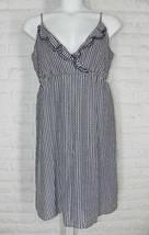 OLD NAVY Dress Sundress V Neck Ruffle Silk Black White Geometric XL - €17,13 EUR