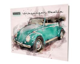 1965 Volkswagen Beetle Convertible Design 16x20 Aluminum Wall Art - $59.35