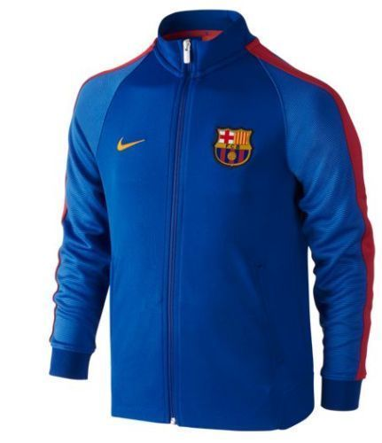 nike fc barcelona authentic n98 youth jacket 2016 17 sport. Black Bedroom Furniture Sets. Home Design Ideas