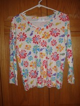 Fresh Produce Top M White All Over Frolic Flowers Top  - $17.49