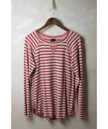 Anthropologie Left of Center Red Gray Striped P... - $26.95