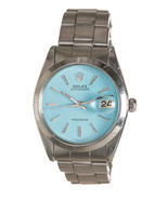 Rolex Stainless Steel Oysterdate Blue Dial Watch - $2,495.00