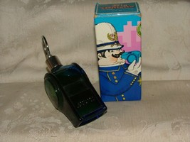 1972 Avon The Big Whistle Blue Decanter Tai Winds Aftershave Full 4 FL O... - $6.00