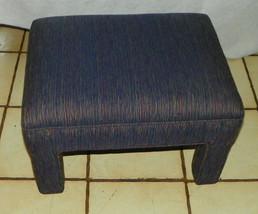 Blue Beige Burgundy Stria Footstool / Stool - $149.00