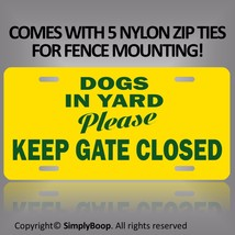 "Keep Gate Closed Beware of Dogs in Yard Sign 100% Aluminum Brand New 6"" ... - $9.79"