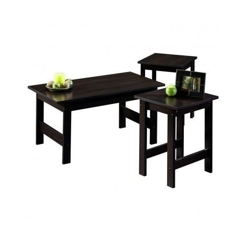 Coffee Table And Side End Tables 3 Piece Set Furniture Living Room Modern Fin