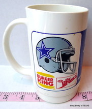 Burger King Dallas Cowboys Cup Dr Pepper Football Graphics 1985 - $18.27
