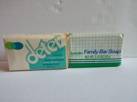 Vintage 1979 & 80 AMWAY LOT OF 2 BARS OF SOAP Deter & Family Bar Soap US... - $14.01