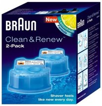 Toothbrush Replacement Head Braun Clean Renew Refills 2 Cartridges 57 oz each - $20.81