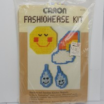 Rainbow Sunshine Weather Kitchen Magnet Plastic Canvas Kit 1981 Caron - $11.00