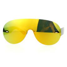 Flat Lens Rimless Sunglasses Oversized Racer Aviator Fashion - $10.95