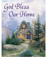 In God's Garden Flag Banner God Bless Our Home Thomas Kinkade Sweetheart... - $14.99
