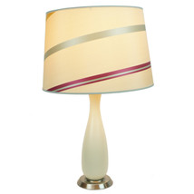 Penelope Beige Table Lamp with 14 juliette stri... - $29.99
