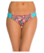 NEW Profile Blush Shangri-La Shirred Side Tab Swim Bikini Bottom M Z501-... - $12.86