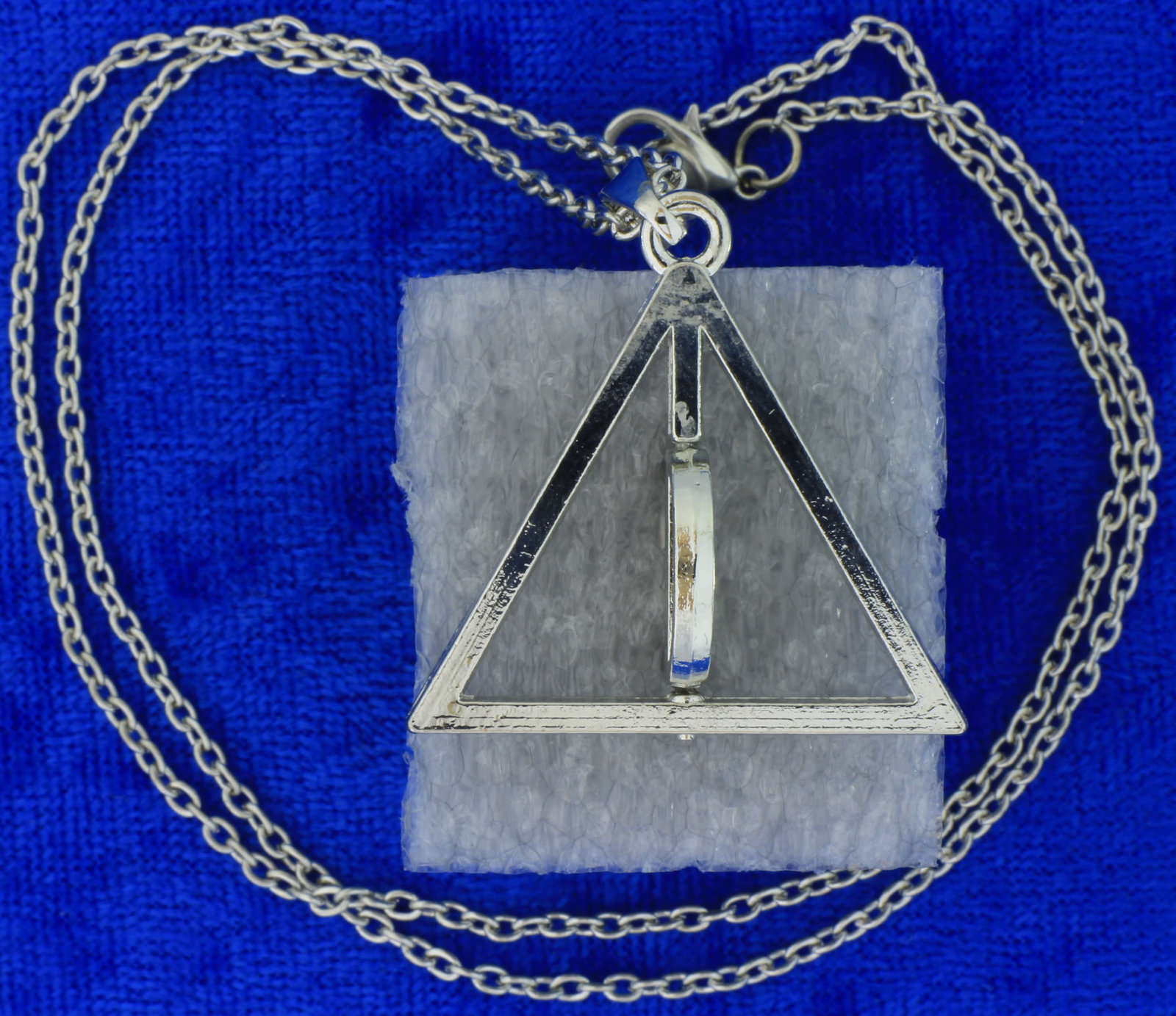 Deathly Hallows Necklace or Keychain Spinning Circle Chain Style Length Choice