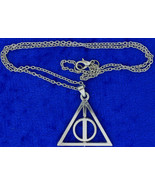 Deathly Hallows Necklace or Keychain Spinning Circle Chain Style Length ... - $4.99+