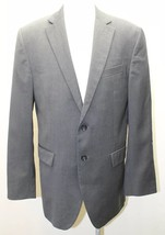 Banana Republic Men Blazer Modern Fit 40R Charcoal Gray Canada 100% Wool - $27.96