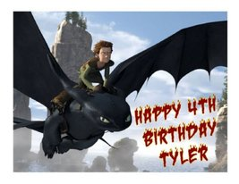 How to Train your Dragon edible cake image topper party - $9.99