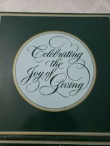 AVON Christmas Memories 1984 Collector Plate 22k Celebrate the Joy of Giving NIB - $10.00