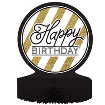 Black & Gold Happy Birthday Honeycomb Centerpiece/Case of 6 - €36,80 EUR