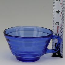 Hazel Atlas Cobalt Blue Moderntone Depression Glass Cup and Saucer Set image 3