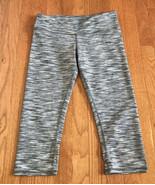 Alo Women's Yoga Gray white Space Dye Crop Leggings Size XS / S Athletic... - $19.77