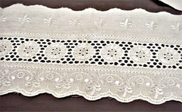 "EYELET LACE 15 YRS IVORY COLOR 4 1/2"" QUILTS, BEDSKIRTS,BASSINETS,COSTUM... - $9.89"