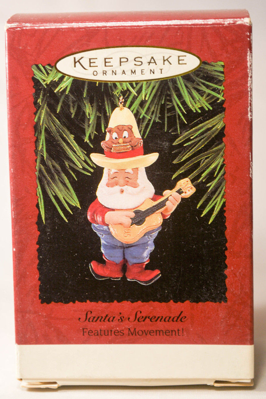 Primary image for Hallmark Santa's Serenade  Features Movement!  1995 Holiday Ornament