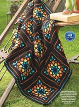 Z547 Crochet PATTERN ONLY Stained-Glass Afghan Throw Pattern - $8.50