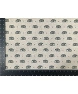 Vintage Hedgehog Grey Linen Look High Quality Fabric Material 3 Sizes - $7.37+