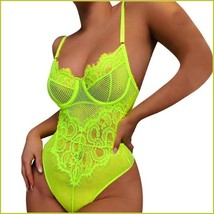 Erotic Sexy Lace Lingerie Bodysuit Chartreuse White Black Or Red In Plus Sizes image 2