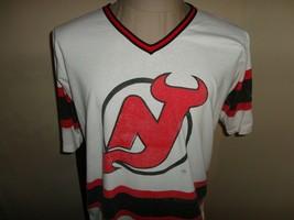 Vtg 90's New Jersey Devils NHL Hockey Promo Devil Dogs Jersey Shirt Fits... - $29.69