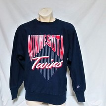 VTG 1991 Minnesota Twins Champion Reverse Weave MLB Sweatshirt 90s Jumpe... - $39.99