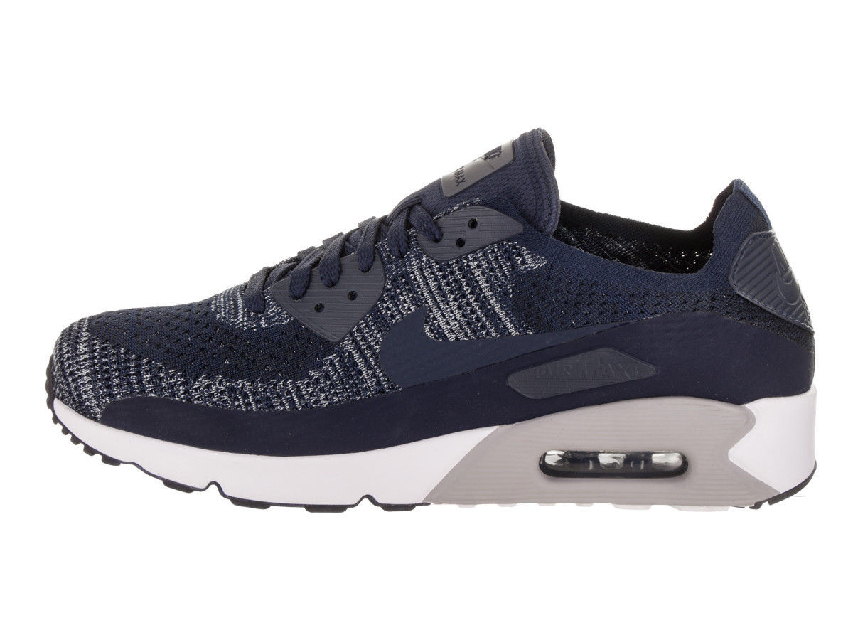 Nike Men's Air Max 90 Ultra 2.0 Flyknit College/Navy/College/Navy Running Shoe image 3