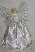 Generic  A11584 15 inch Silver Lace and Glitter Angel Tree Topper image 2