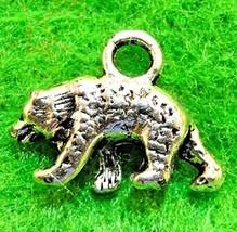 10Pcs. Tibetan Silver 3D Bear Animal Charms Pendants Earring Drops AN040... - $19.05
