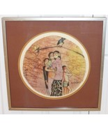 LISTED MALAYSIAN ARTIST LEE LONG LOOI ROUND WATERCOLOR PAINTING ON RICE ... - $2,900.00