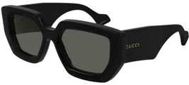 NEW Gucci Sunglasses GG0629S 002 Black/Grey Lens Design 55mm - $358.90