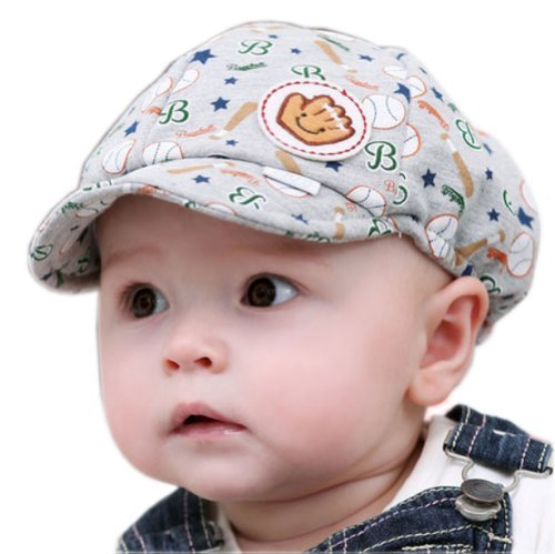 (3-15M) Infant Sun Protection Baby Floppy Hat Toddler Gray Based Ball Cap