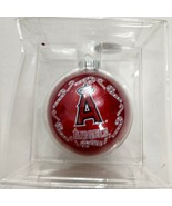 Los Angeles Angels Christmas Ornament Candy Canes Red - $11.88