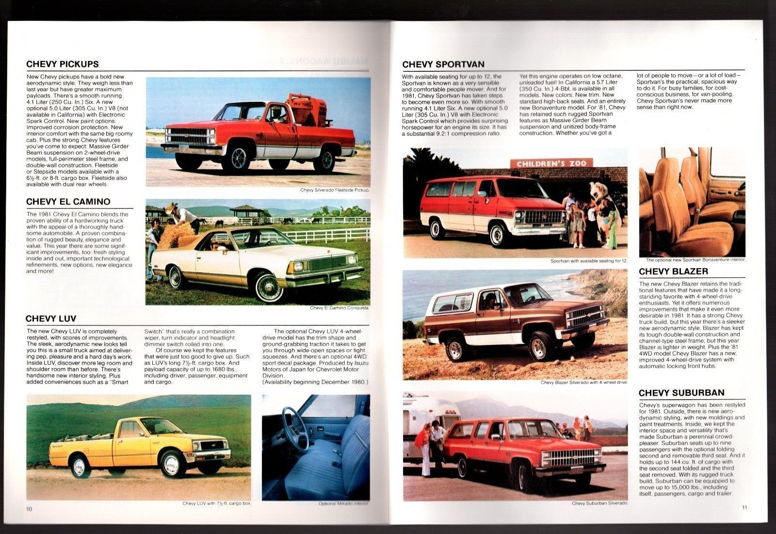 Dealer Sales Brochure NOS 1984 Chevrolet Full Size Blazer Truck 8-Page
