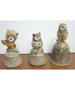 Three Vintage Ceramic Owl Bells - $8.90