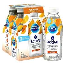 Nestle Pure Life + Active with Potassium Orange Flavor 20 oz ( Pack of 4 ) - $14.36