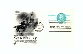 POSTCARD- Honoring Caesar RODNEY-PATRIOT- First Day Issue BK10 - $2.91